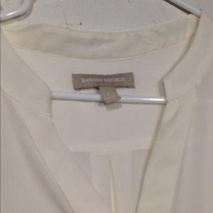 Banana Republic Tops - Banana Republic | Sheer Cream blouse size large